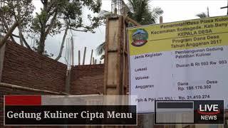 Pembangunan Gedung Pelatihan Kuliner Desa Piasa Kulon, Kec. Somagede BANYUMAS JATENG
