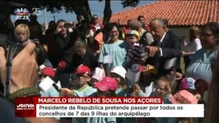 Marcelo elogia a força e coragem dos açorianos (video SIC Noticias)