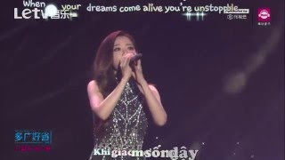 [Vietsub + kara] Dream it possible - Jane Zhang - Trương Lượng Dĩnh - Live at Migu awards