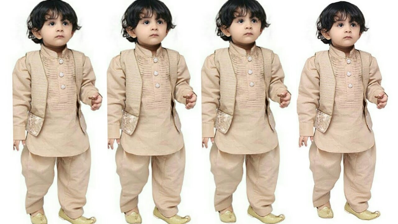 3afd8c99b Download thumbnail for Little boy kurta pyjama design l latest kurta ...