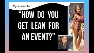 HOW TO GET LEAN FOR AN EVENT - Real Advice | Vegan Bodybuilder