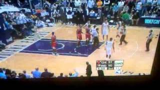 Bulls vs Pacers Game 3   4/21/11 Jeff Foster Hard Foul on Derrick Rose Fight