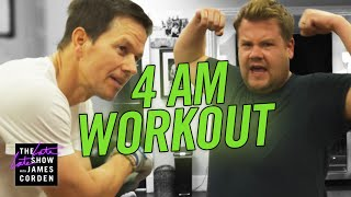 James Joins Mark Wahlberg's 4am Workout Club width=