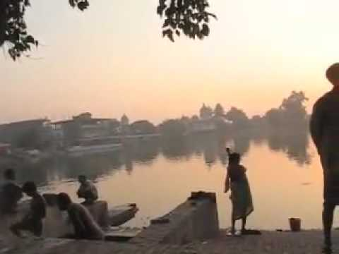 Morning at Ganga Kunda lake in Janakpur, Nepal