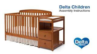 Delta Children Royal 4-in-1 Crib 'N' Changer Assembly Video