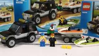 SUV with Watercraft / Terenówka ze Skuterami - Lego City - 60058 - Recenzja