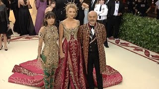 Blake Lively and Christian Louboutin at the 2018 MET Gala
