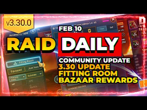 RAID Daily | 3.30 is LIVE! | Fitting Room?! | Bazaar Changes?!