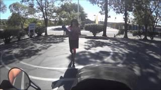 California DMV Motorcycle Skills Test.