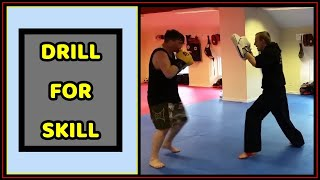 Boxing Combination Drill for Skill on the Pads