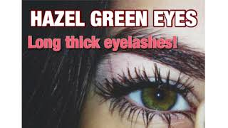 🌻 Hazel Green Eyes + Long Eyelashes 🌻