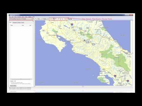 Transfer GPS Map Garmin Mapsource Costa Rica  Guatemala Belize El Salvador Aruba Barbados