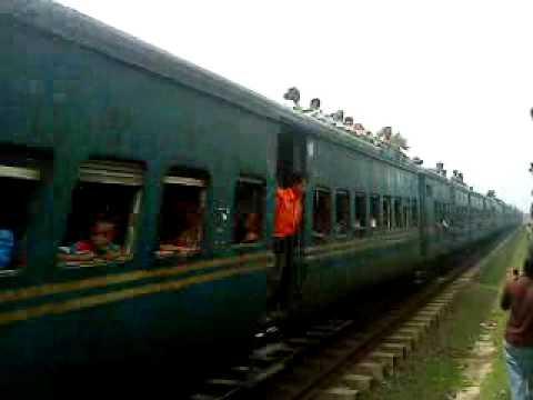 Bangladesh Railway Dewangonj commuter train youtube video.