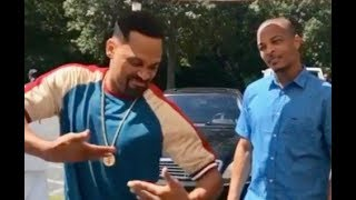 Mike Epps TEACHES T.I. How To Milly Rock On The Set Of ATL 2