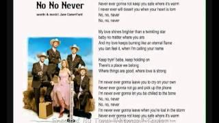 Texas Lightning No No Never Words & Music