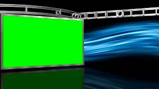 Virtual Studio with Green Screen Wall and motion Background - Free Download Link