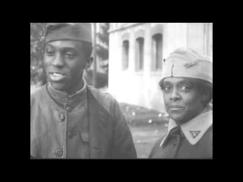 This film from the National Archives shows soldiers on leave during the war -- dancing, bicycle riding, sightseeing in the company of YMCA and Red Cross workers.