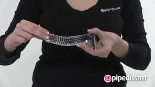 video Skleněné dildo Icicles No. 61 Pipedream