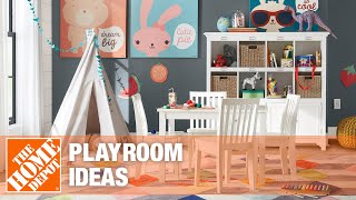 A video showing kids' playroom ideas.