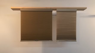 Cellular blind cutting and installation both room darkening and light filtering. width=