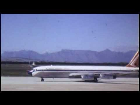 South African Airlines Boeing 707 landing at D.F. Malan Airport, Cape Town