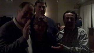 John Vella and George Beuhler ( with wife Sandy) after dinner with Orlando Frasca