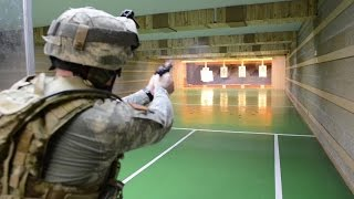 Soldiers And Officers Qualify With M9 Pistols