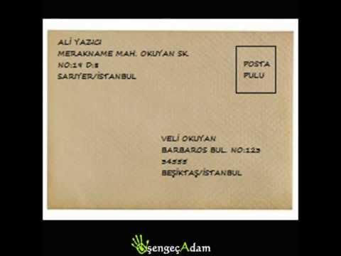 zarf arkası nasıl doldurulur