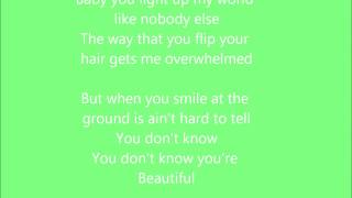 One direction-What makes you beautiful ! Lyrics