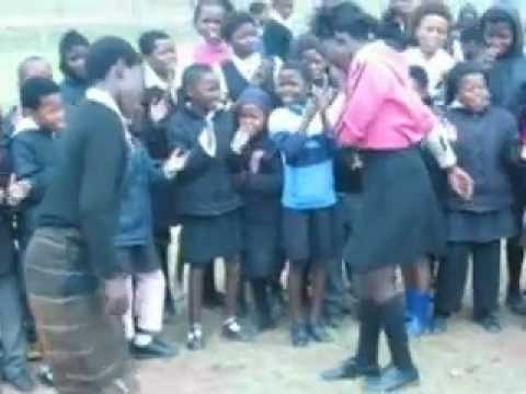 Young Xhosa girls dancing