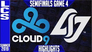 C9 vs CLG Highlights Game 4 | LCS Summer 2019 Playoffs Semi-finals | Cloud9 vs Counter Logic Gaming