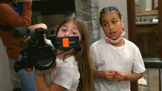 Watch Penelope Disick and North West Pretend Film 'Keeping Up With the Kids'
