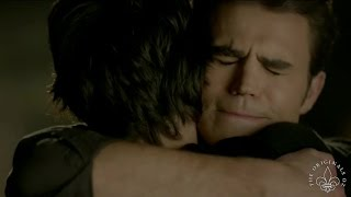 "TVD 8x16 FINALE Elena finds peace with her family & Damon finds peace with Stefan ""Hello, Brother"""