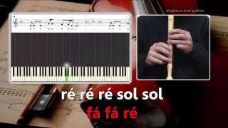 Royals Lorde Karaoke com notas para flauta Educação Musical