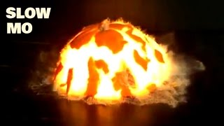 Top 30 Explosions In Slow Motion - Real Life Exploding Compilation - Slow Mo Lab