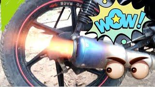 Hero Splender Exhaust Tuning | Loudest bike India | Super Sound | KD'fication