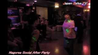 Japan Salsa TV [Issei & Asami ]@Nagorea Social After Party Video by TAMA 20120407