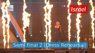 Israel Eurovision 2017 - I Feel Alive (Semi Final 2 Dress Rehearsal, Live in 4K) - IMRI