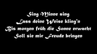 Oonagh und Santiano: Minne (mit lyrics)