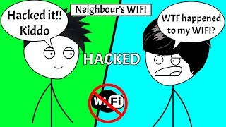 When a Gamer Hacks His Neighbour's WIFI