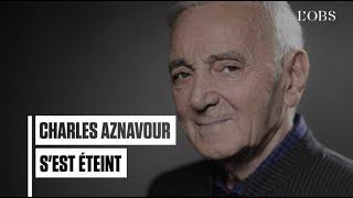Charles Aznavour, légende de la chanson française, est mort