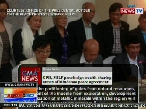 Gph Milf Panels Sign Wealth Sharing Annex Of Mindanao Peace