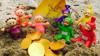 TELETUBBIES and TOMBLIBOOS Toys Gold Treasure!