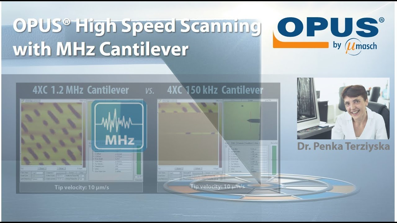 High Speed Scanning with the OPUS 4XC 1.2MHz Cantilever