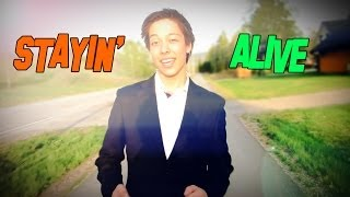 Stayin' Alive ft. Mikael Bee Gee (Official Music Video)