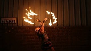 Debs Poi Fire Spinning - Feed Me - No Grip