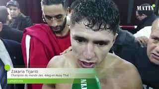 Zakaria Tijarti domine Mikel Sortino et s'empare de la ceinture mondiale