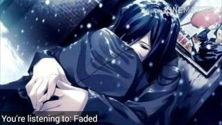 Faded ~ Nightcore with lyrics