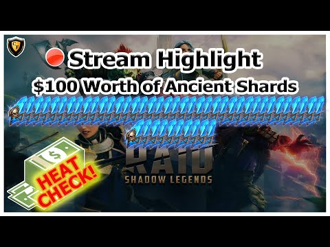 RAID Shadow Legends | Stream Highlight | $100 Worth of Ancient Shards