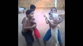 Niños locos bailan con su perro [VIDEO ORIGINAL]